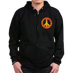 Peace on Fire Zip Hoodie (dark)