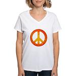 Peace on Fire Women's V-Neck T-Shirt