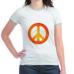 Peace on Fire Jr. Ringer T-Shirt
