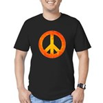 Peace on Fire Men's Fitted T-Shirt (dark)