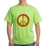 Peace on Fire Green T-Shirt