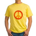 Peace on Fire Yellow T-Shirt