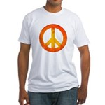 Peace on Fire Fitted T-Shirt