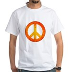 Peace on Fire White T-Shirt