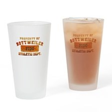 Personalized Prop of Rottweiler Drinking Glass