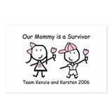 Pink Ribbon - Kenzie & Karsten 2 Postcards (Packag