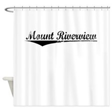 Mount Riverview, Aged, Shower Curtain