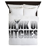 Drink Up Bitches!.png Queen Duvet