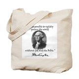 Washington God &amp; Bible Quote Tote Bag
