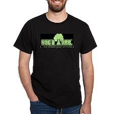 Hug A Tree Black T-Shirt