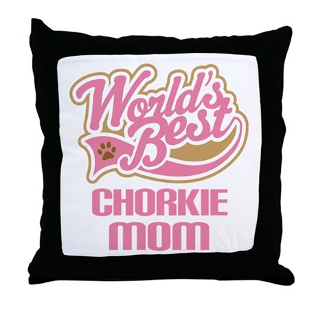 Chorkie Mom Throw Pillow