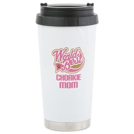 Chorkie Mom Ceramic Travel Mug