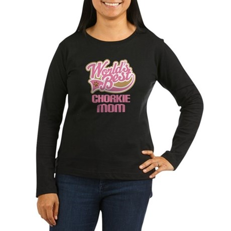 Chorkie Mom Women's Long Sleeve Dark T-Shirt