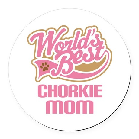 Chorkie Mom Round Car Magnet