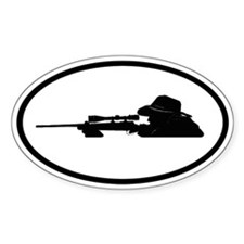 Hunting Oval Decal
