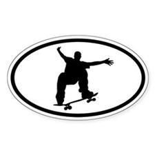 Skateboarding Sticker 2 (Oval)