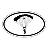 Paratrooper Oval Decal