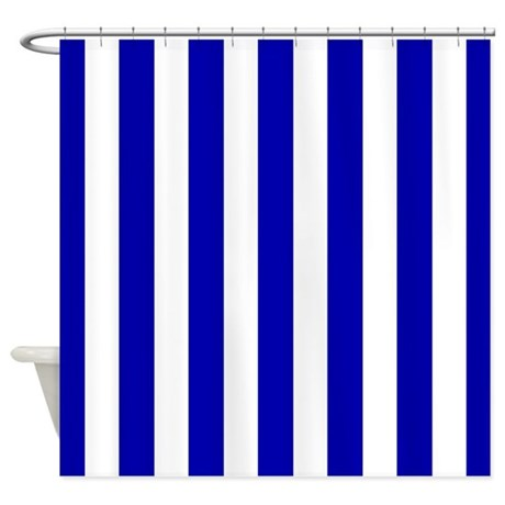 Lowes Double Curtain Rod Shades of Blue Striped Showe