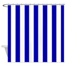 Blue Ruffle Shower Curtain Blue White Stars Shower Curtain