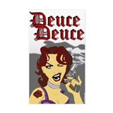 Deuce Deuce Girlie Sticker