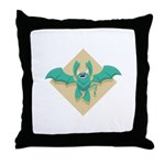 Gargoyle Bat Throw Pillow