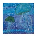 Jellyfish Duo Tile Coaster