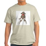 Sock Monkey Sitting Light T-Shirt