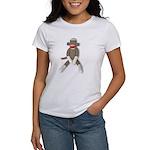 Sock Monkey Sitting Women's T-Shirt