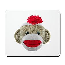Sock Monkey Face Mousepad