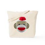 Sock Monkey Face Tote Bag