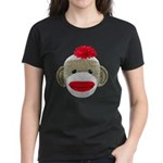 Sock Monkey Face Women's Dark T-Shirt
