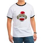 Sock Monkey Face Ringer T