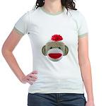 Sock Monkey Face Jr. Ringer T-Shirt