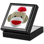 Sock Monkey Face Keepsake Box