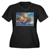 Rose Mary 11:11 Women's Plus Size V-Neck Dark T-Sh