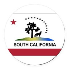 Flag of South California Round Car Magnet