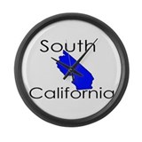 South California Blue State Large Wall Clock