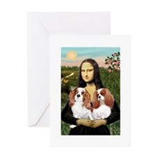 3-SFP-MONA-Cav-BLENPair Greeting Cards