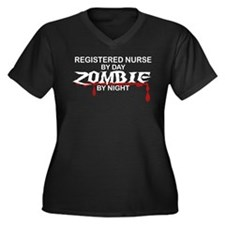 Registered Nurse Zombie Women's Plus Size V-Neck D