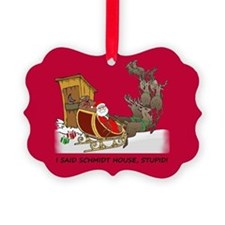 Schmidt House Cartoon Christmas Ornament