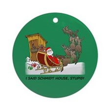 Schmidt House Cartoon Christmas Ornament (Round)