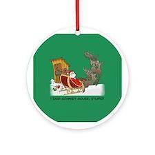 Schmidt House Cartoon Christmas Ornament (Round)