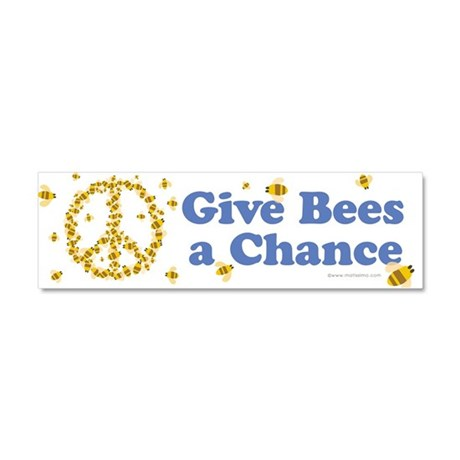 Give Bees a Chance Car Magnet 10 x 3