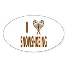 I Love Snowshoeing Decal