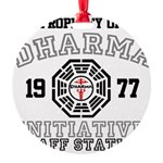 Property of Dharma - Staff Round Ornament