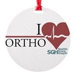 I Heart Ortho - Grey's Anatom Round Ornament