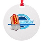 Weiner Underwear - Grey Brief Round Ornament