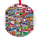 Parade of Nations Round Ornament