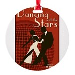Retro Inspired DWTS Poster Round Ornament
