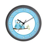 Funny Hoot owl Wall Clock